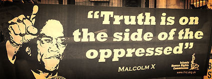 malcolm x banner truth is on