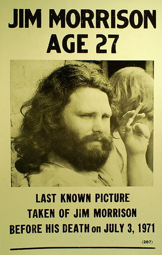 Jim Morrison Aged 27