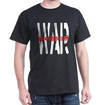 ANTI WAR BLACK T SHIRT
