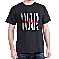 ANTI WAR BLACK T SHIRT