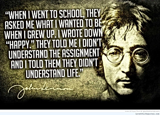 John lennon quote on life