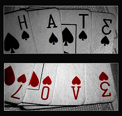 Love Hate Playing Cards
