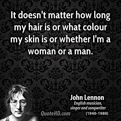 john lennon it doesnt matter how long my hair is