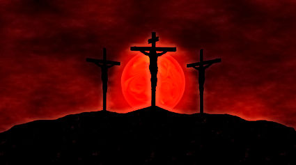 christ crucifixion sunset