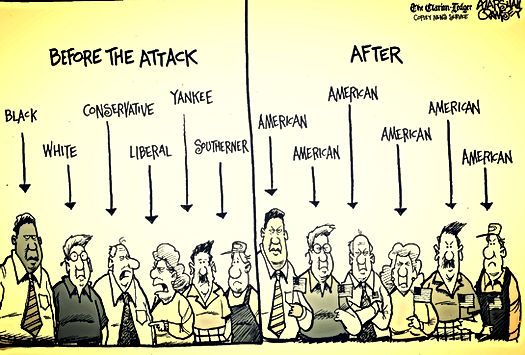 usa citizens before and after the attack