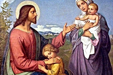 jesus mary magdalene with two children