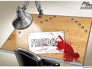 debate freedom of expression blood spatter