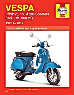 vespa px scooters haynes manual 1978 2012