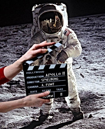 moon landing hoax clapper board