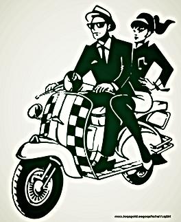 rude boy rude girl cool scooter