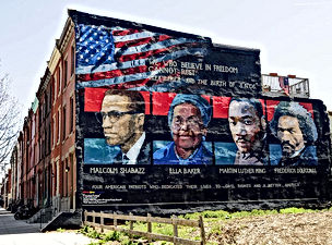 Mural Malcolm X Ella Baker Martin_Luther