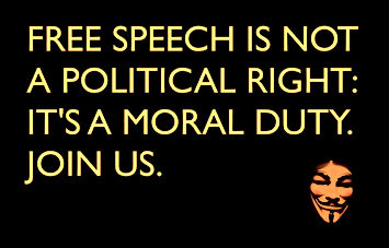 free speech is not a political right is a moral duty