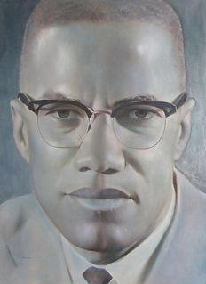 Malcolm X portrait by Robert Templeton