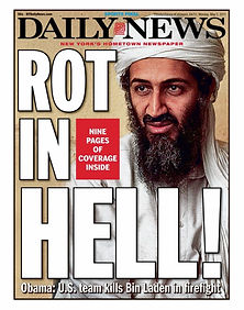 daily news bin laden rot in hell