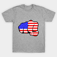 9-11 Stars and Stripes Fist T-Shirt