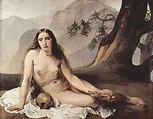 the naked penetant mary magdalene by francesco hayez