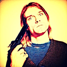 kurt cobain hand gun