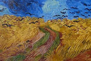 van gogh crows in wheat field