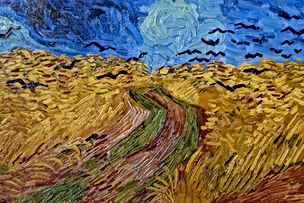 van gogh crows in wheat field
