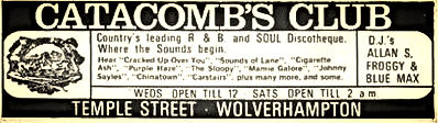 catacombs club wolverhampton the countrys leading r&b soul discotheque
