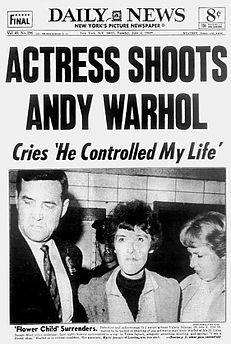 Actress Shoots Andy Warhol