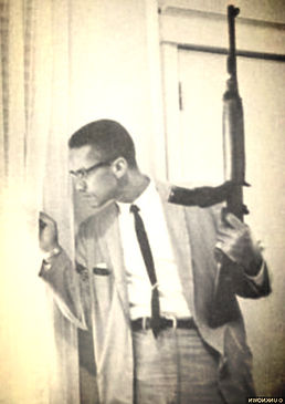 malcolm x with gun