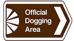 official dogging area road sign