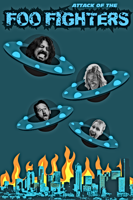ufo foo fighters poster