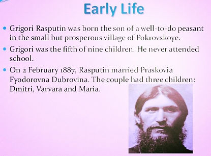 grigori rasputins early life he was born the son of a well to do peasant