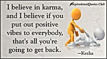 positive karma vibes Kesha