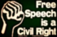fist free speech is a civil right