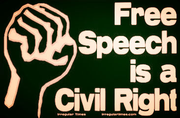 fist free speech is a civil right