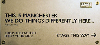 hacienda this is the factory enjoy your gig stage this way