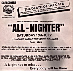 the catacombs wolverhampton all nighter the end the death of the cat