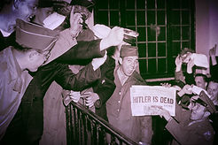 hitler dead newspaper report photo