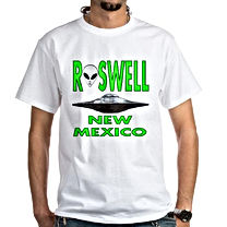 roswell new mexico flying saucer t shirt