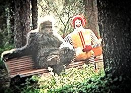 Bigfoot and Ronald Mcdonald