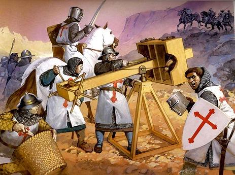 The Knights Templars: warrior monks.