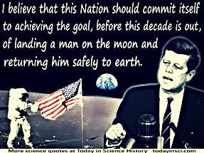 jfk landing a man on the moon