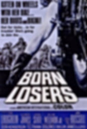 Kitten on Wheels with her Bike with her Boots and Bikini Born Losers Movie Poster