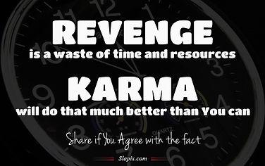 revenge is a waste
