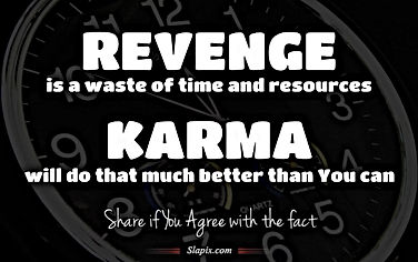 revenge is a waste