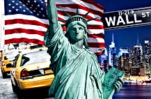 iconic liberty taxi flag wall st sites