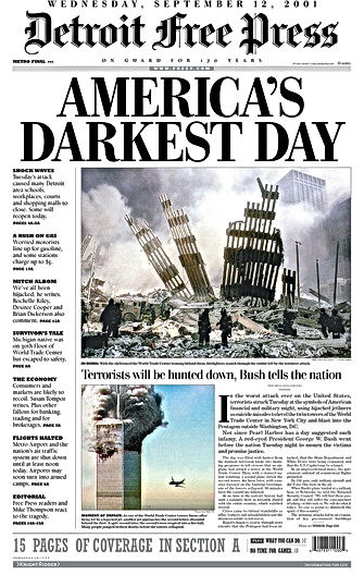 9/11 usa press reaction americas darkest day