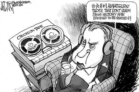 Nixon Crookson Tape Cartoon
