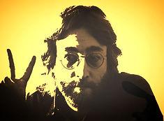 john lennon war peace sign