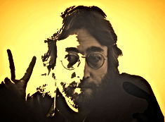 john lennon war peace sign