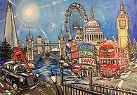 black cab red bus st pauls london bridge houses of parliament london sites