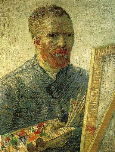 Van Gogh self portrait as an artist