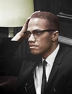Malcolm x colorized photo